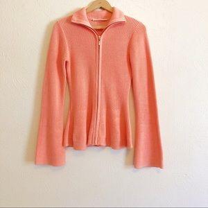 Boston Proper Peplum Cardigan Sweater